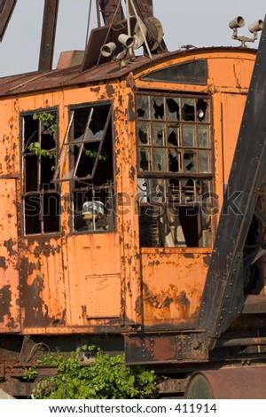Old crane. - stock photo