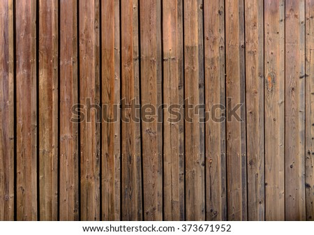 Old cranied gnarly brown wood plank texture background image - stock photo