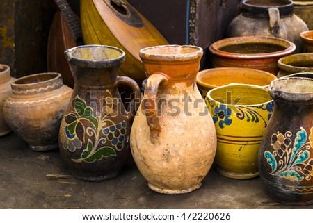 old crockery jugs for milk