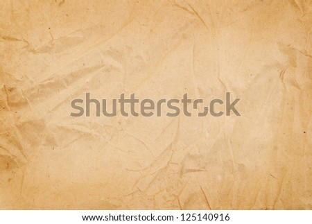 Old crumpled paper background - stock photo