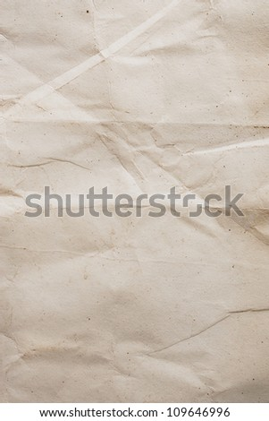old crumpled paper with space for text or image - stock photo
