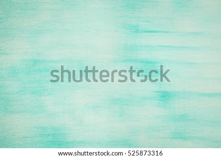 Old Damaged Cracked Paint Wall Grunge Background Turquoise Color
