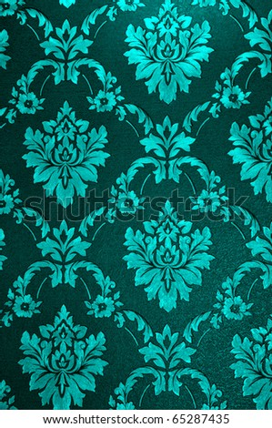 old damask wallpaper, tapestry - stock photo