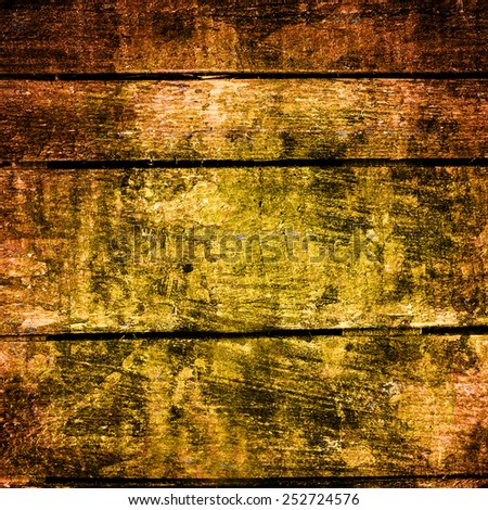 Old  dark  grunge wood background with knots and scratches. Wood plank texture of bark wood natural background, square format  - stock photo