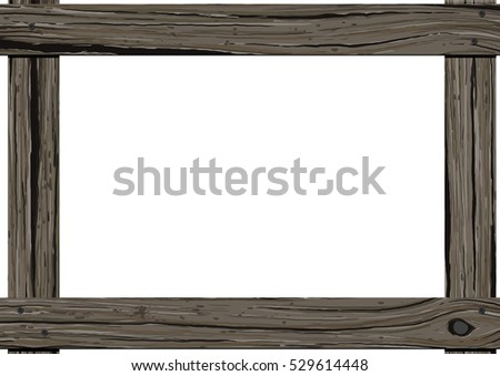 Old Dark Wood Horizontal Frame Empty Stock Illustration 529614448 ...