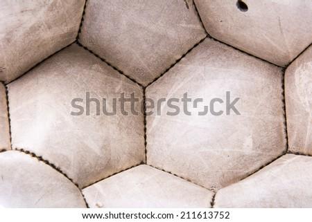 old deflated soccer ball - stock photo