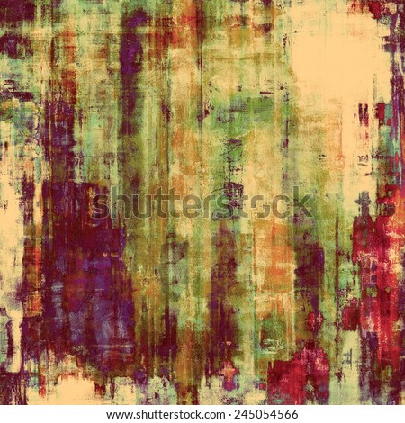 Old designed texture as abstract grunge background. With different color patterns: purple (violet); yellow (beige); brown; green; pink - stock photo