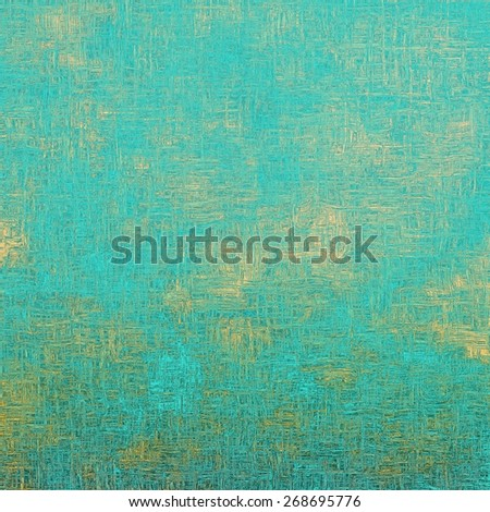 Old designed texture as abstract grunge background. With different color patterns: yellow (beige); blue; cyan - stock photo
