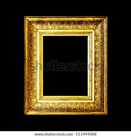 Old Dirty Antique Gold Frame Isolated Stock Photo (Royalty Free ...