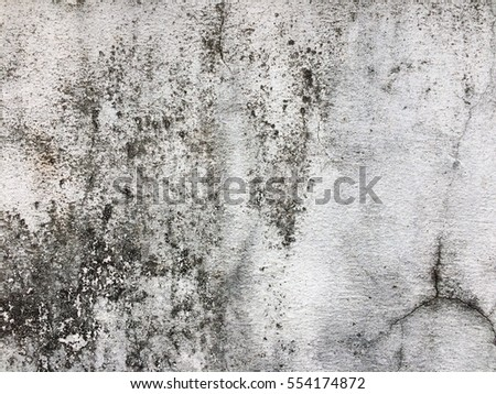 Old dirty dark white paint concrete wall texture