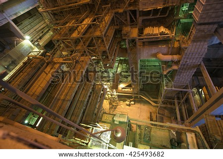 Old dirty factory - stock photo