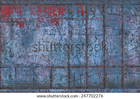Old Dirty Metal Texture with Seams (Part of Grungy Textures with Rusty Seams set, which includes textures that can be used together to create a huge image) - stock photo