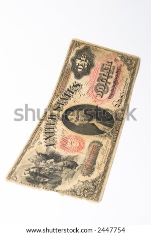 Old Dollar Note - stock photo