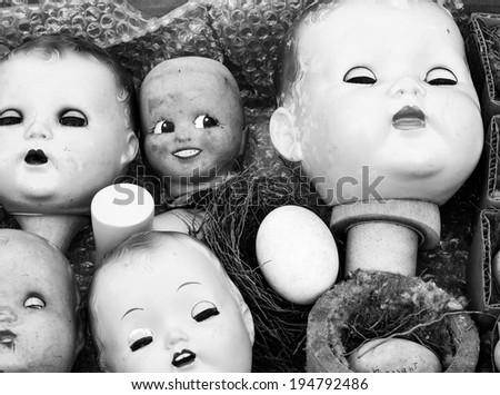 Old Dolls - stock photo