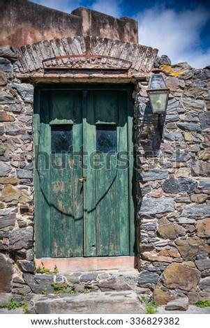 Old door - Colonia del Sacramento - Uruguay - stock photo
