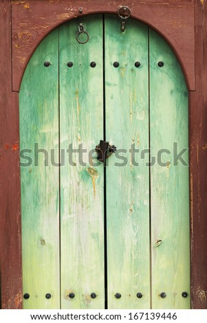 Old door green - vintage style