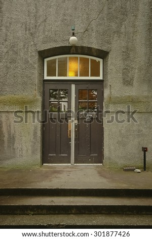 old door in a sandstone building