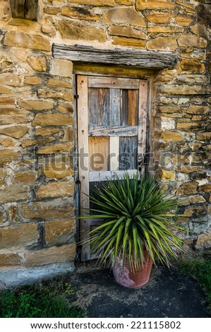Old Door of San Jose Mission - stock photo