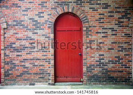 old door wall  - stock photo