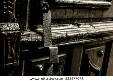 Old doorknob - stock photo
