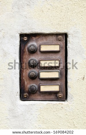 old doorphone - stock photo
