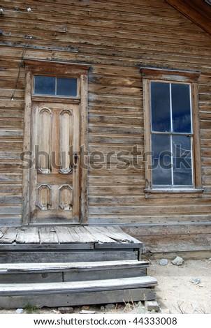 Old doorway & window - Bodie, California - stock photo