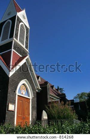 Old Downtown Church - stock photo