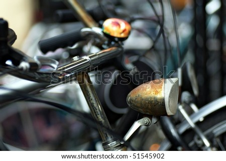 old dutch vintage bicycle - stock photo