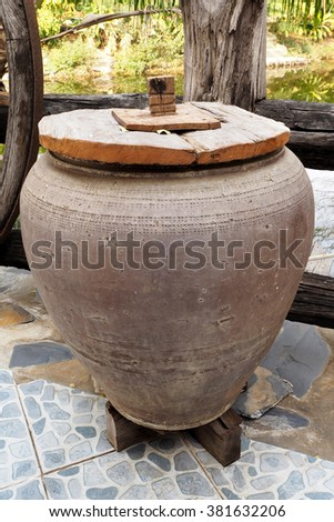 Old earthen jar in Thailand