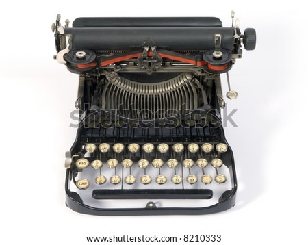 Old easily portable metal typewriter