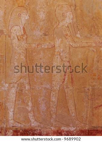 Old egyptian basrelief background, Luxor, Egypt - stock photo