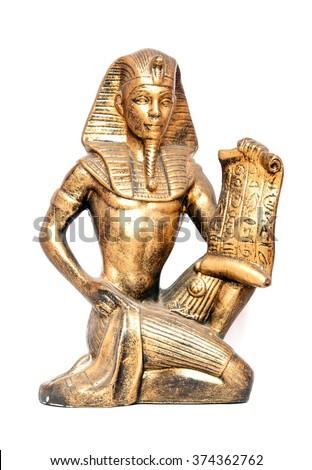 old Egyptian pharaoh Statue - stock photo
