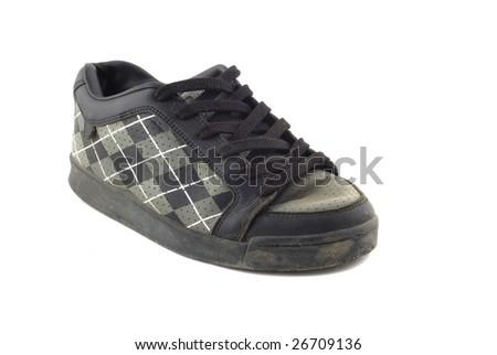 old emo shoe isolated - stock photo