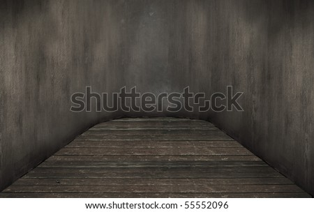 Old empty room - stock photo
