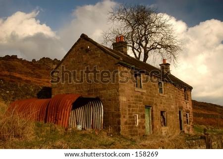 Old English Stone House - stock photo