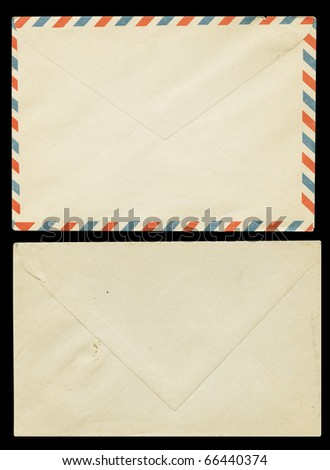 Old envelope for airmail - stock photo