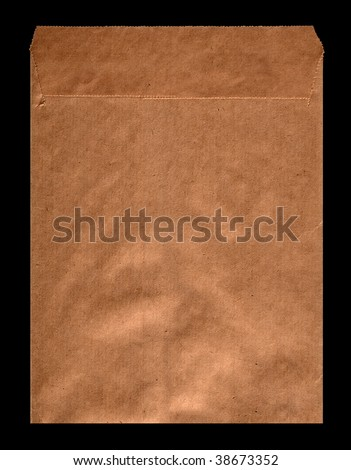 Old envelope for letters on the isolated background - stock photo