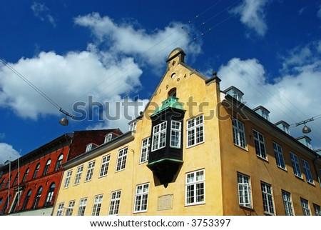 old european house with balcony - stock photo