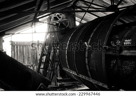 Old Factory Interior - stock photo