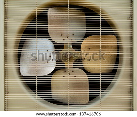 Old fan of air conditioners - stock photo