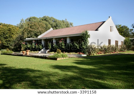 Old Farm House Viewed Front Built Stock Photo 3391160