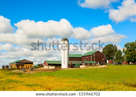 Old Farm in Canadian County - stock photo