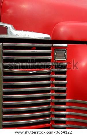 Old Farm Truck Grill - stock photo