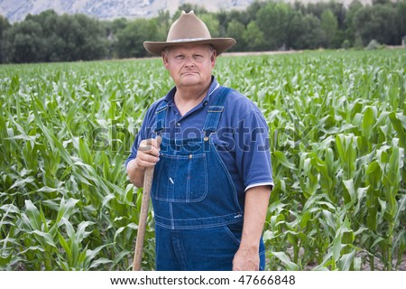 Old Farmer working in his fields