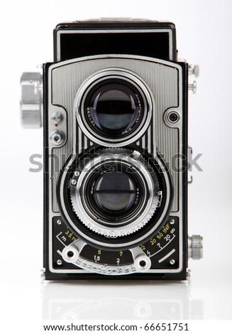 Old Fashion antique camera - stock photo