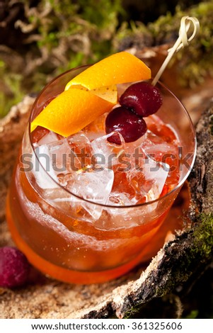 Old Fashion Cocktail - stock photo