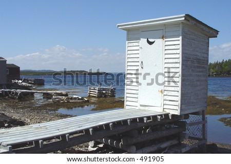 Old Fashion Outhouse by the ocean