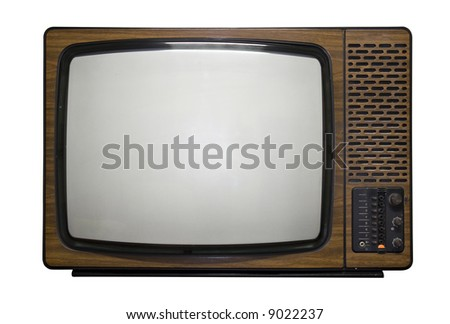 Old fashion retro tv - stock photo