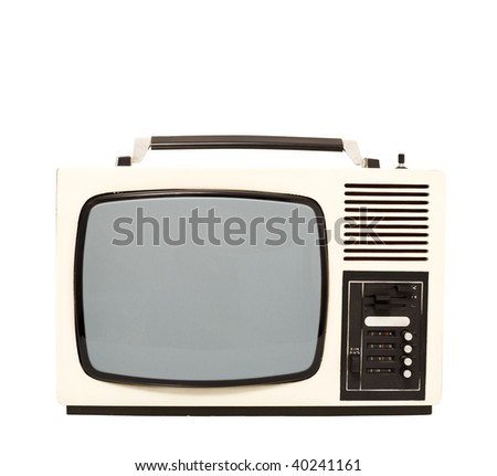 Old fashion television set - isolated