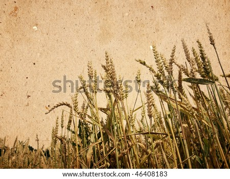 old-fashioned artistic landscape - stock photo